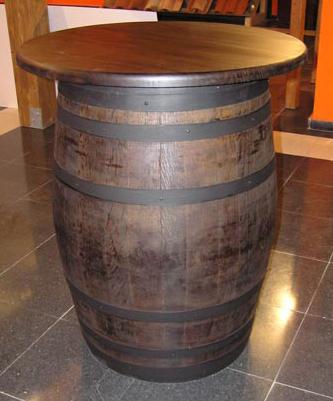 barrica para mesas con tapa de pino