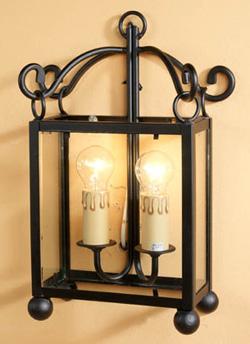 Apliques lamparas y faroles rustcos para decoracion de - Lamparas y apliques rusticos ...