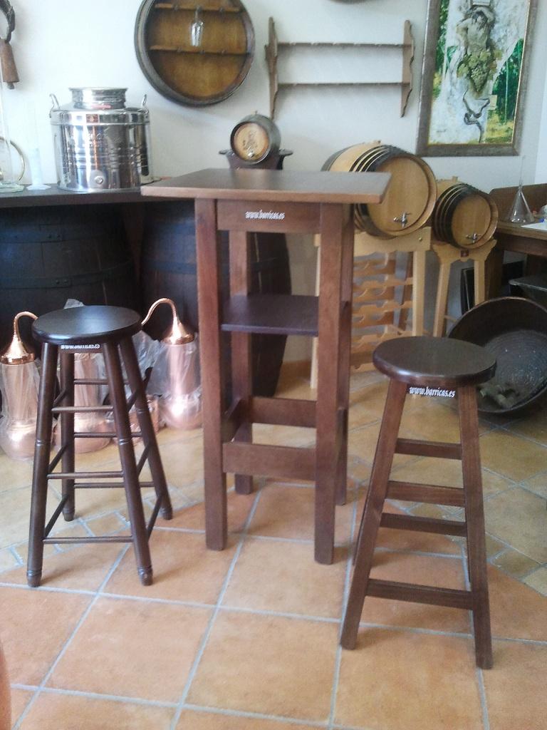 Mesas altas para interior y exterior barrricas toneles rustico accesorios barricas - Muebles montilla malaga ...