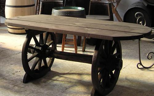 Barricas toneles rustico accesorios barricas - Ruedas para mesa ...
